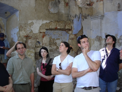 The second photo is of Amy and Alex and several others who went on a two-day tour of shtetles in the Katowice region. They are standing in the ruin of a beautiful, neo-classical synagogue in a town called Nowy Korczyn that is on the verge of collapsing. Being there was a very moving experience.